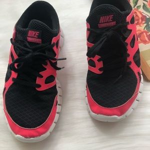 003496a08aad Nike Shoes - Nike Free Run 2 neon pink black running sneakers